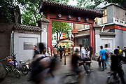 The Lotus Market or Lotus Lane is a Hutong street in Shichahai area and contains a stretch of bars and restaurants. A popular night spot for tourists and locals.