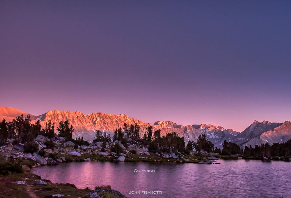 Evening Alpenglow in Pioneer Basin