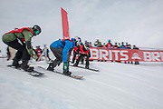 Olympic Big Air bronze medalist Billy Morgan during The Brits snowboard cross competition on the 2nd April 2019 in Laax Switzerland.