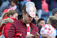 Croatia fan with Queen face mask during the UEFA Nations League match between England and Croatia at Wembley Stadium, London, England on 18 November 2018.
