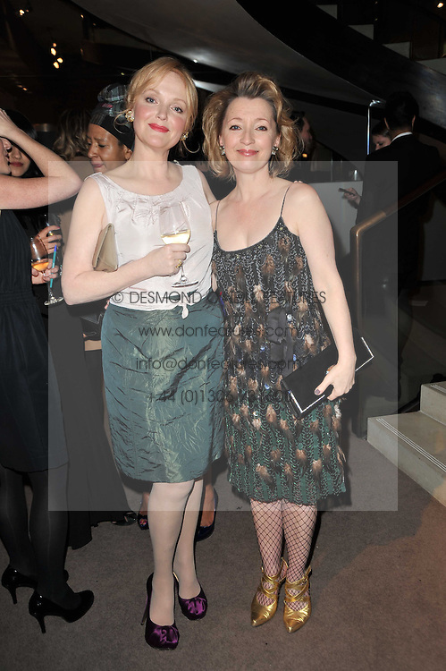 Left to right, MIRANDA RICHARDSON and LESLEY MANVILLE at the BAFTA Nominees party 2011 held at Asprey, 167 New Bond Street, London on 12th February 2011.