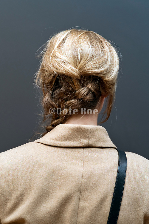 woman with long thick braid
