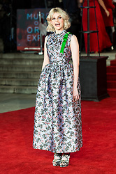 © Licensed to London News Pictures. 02/11/2017. London, UK. LUCY BOYNTON attends the world film premiere of Murder On The Orient Express. Photo credit: Ray Tang/LNP
