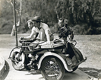 1936 Filming with a motorcycle camera at Samuel Goldwyn Studios