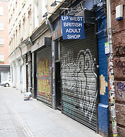 Adult shops and massage parlour all closes  due to covid 19 in Soho  Londom