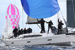 The Silvers Marine Scottish Series 2014, organised by the  Clyde Cruising Club,  celebrates it's 40th anniversary.<br /> Day 2 GBR8038R, Roxstar, J Anderson/M Findlay, CCC, XP38i<br /> Racing on Loch Fyne from 23rd-26th May 2014<br /> <br /> Credit : Marc Turner / PFM