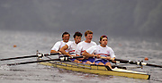 Lucerne, SWITZERLAND GBR M4-. Bow. Martin CROSS, Jim WALKER, Ben HUNT DAVIS and Tim FOSTER. 1992 FISA World Cup Regatta, Lucerne. Lake Rotsee.  [Mandatory Credit: Peter Spurrier: Intersport Images] 1992 Lucerne International Regatta and World Cup, Switzerland