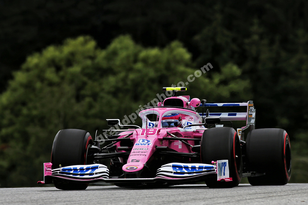 Lance Stroll (Racing Point-Mercedes) before the 2020 Austrian Grand Prix at the Red Bull Ring in Spielberg. Photo: Grand Prix Photo