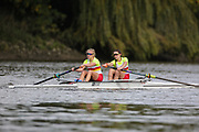 Crew: 86 - Wagstaff / Terry - Tideway Scullers School - W 2- Championship <br /> <br /> Pairs Head 2020