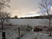 A1FNE9 Winter snow heavy dark snow clouds
