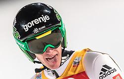 06.01.2016, Paul Ausserleitner Schanze, Bischofshofen, AUT, FIS Weltcup Ski Sprung, Vierschanzentournee, Bischofshofen, Finale, im Bild Peter Prevc (SLO) // Peter Prevc of Slovenia celebrates after his 1st round jump of the Four Hills Tournament of FIS Ski Jumping World Cup at the Paul Ausserleitner Schanze in Bischofshofen, Austria on 2016/01/06. EXPA Pictures © 2016, PhotoCredit: EXPA/ JFK