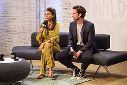 Michelle Keegan and Ben Aldridge at BUILD for a live discussion at AOL's Capper Street Studio in London.