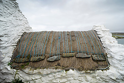 Roof detail at Easthouse Croft Heritage Centre at Papil, West Burra, Shetland, Scotland, UK