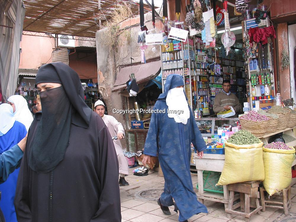 market in marakech, morocco