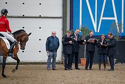 De Smet Stefaan, BEL, Van Den Broeck Herman, BEL, Heylen Tom, BEL, Bode H, BEL, Keuringscommissie<br /> Hengstenkeuring BWP<br /> 3de phase - Hulsterlo - Meerdonk 2018<br /> © Hippo Foto - Dirk Caremans<br /> 15/03/2018