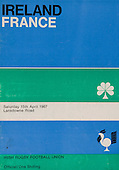 Rugby 1967 - 15/04 Five Nations Ireland Vs France