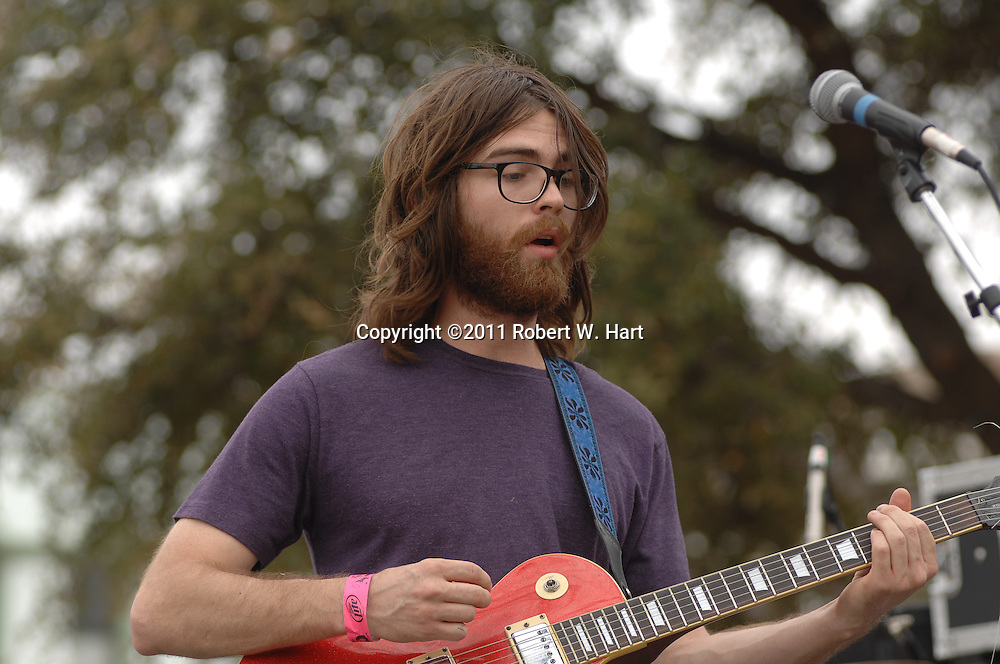 The Hanna Barbarians perform at the 35 Conferette on the Denton County Courthouse square in Denton, Texas, on March 13, 2011.