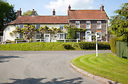 Historic houses in the village of Ramsbury, Wiltshire, England, UK