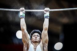 October 29, 2018 - Doha, Qatar - Arthur Mariano of Brazil   during  High Bar, Team final for Men at the Aspire Dome in Doha, Qatar, Artistic FIG Gymnastics World Championships on October 29, 2018. (Credit Image: © Ulrik Pedersen/NurPhoto via ZUMA Press)