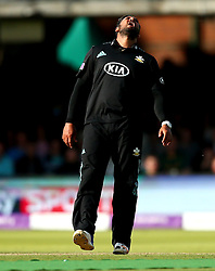Ravi Rampaul of Surrey shows his frustration - Mandatory by-line: Robbie Stephenson/JMP - 01/07/2017 - CRICKET - Lord's Cricket Ground - London, United Kingdom - Nottinghamshire v Surrey - Royal London One-Day Cup Final 2017