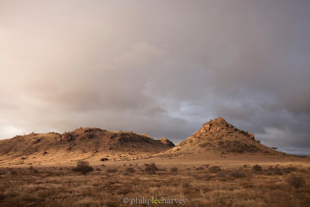 The landscape of Amboseli National Park, Kenya