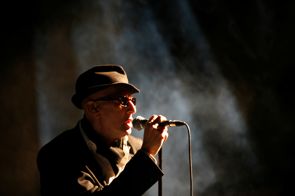 Cimiez-Nice, France. July 24th 2008..Alain Bashung performs at the Nice Jazz Festival.
