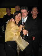Gustavo Santaolalla, winner Best Score for ìBrokeback Mountainî with wife.Elton John Oscar party.Pacific Design Center.Hollywood, CA, USA.Sunday, March 5, 2006.Photo By Celebrityvibe.com/Photovibe.com; .To license this image please call Phone: (212) 410 5354, or.email: sales@celebrityvibe.com; website: www.celebrityvibe.com......