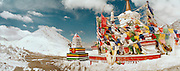 Prayer Flags at the top of the world - Ladakh Himalayas - Landscape photograph 2006