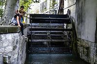 Water wheel. Avignon, France.
