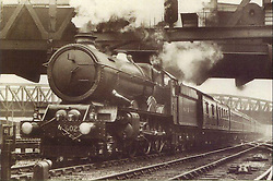 © under license to London News Pictures. 02/04/2011. The King Edward II steam locomotive pictured here in leaving paddington Station in the 1930's.  The KEII was today (02/04/2011) revealed to the public in it's full glory at the Railway Centre in Didcot, Oxfordshire, England. A group of volunteer workers have spent the last 20 years working on restoring the heavy express steam locomotive to full working order. The splendid machine first introduced in the 1920's spent many years rotting at Barry Scrapyard in Wales after performing over 1,500,000 miles of service pulling trains between London Paddington and the West of England for Great Western Railway. Photo credit should read: London News Pictures