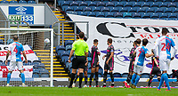 Blackburn Rovers' Adam Armstrong (7) scores his side's first goal from a freekick<br /> <br /> Photographer Alex Dodd/CameraSport<br /> <br /> The EFL Sky Bet Championship - Blackburn Rovers v Leeds United - Saturday 4th July 2020 - Ewood Park - Blackburn<br /> <br /> World Copyright © 2020 CameraSport. All rights reserved. 43 Linden Ave. Countesthorpe. Leicester. England. LE8 5PG - Tel: +44 (0) 116 277 4147 - admin@camerasport.com - www.camerasport.com