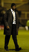 Photo: Leigh Quinnell.<br /> Hartlepool United v Swindon Town. Coca Cola League 1.<br /> 02/01/2006. Swindon manager Iffy Onuora pleased at the end of the game.