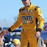 Kyle Busch is seen during the 60th Annual NASCAR Daytona 500 auto race at Daytona International Speedway on Sunday, February 18, 2018 in Daytona Beach, Florida.  (Alex Menendez via AP)