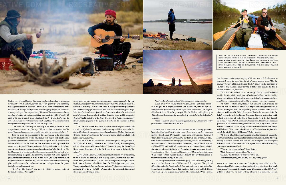 Editorial feature in Canoe & Kayak magazine about canoeing the Mississippi River with Quapaw Canoe Company founder John Ruskey.
