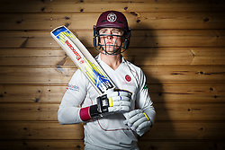 Tom Abell of Somerset Cricket poses during a portrait session - Mandatory byline: Rogan Thomson/JMP - 08/04/2016 - CRICKET - The County Ground - Taunton, England - Somerset County Cricket Club Media Day.