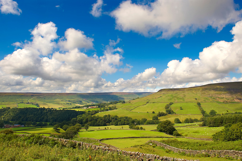View of Farndale.  North Yorks National Park, North Yorkshire, England