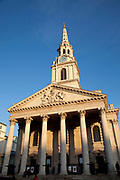 St Martin in the Fields church on Trafalgar Square, London. A working church which also hosts many concerts and recitals.