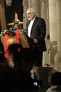 December 11, 2013-New York, NY:  Imam Feisal Abdul Rauf attends the Nelson Mandela Commemorative Memorial service held at the Riverside Church on December 11, 2013 in New York City. Nelson Rolihlahla Mandela was inaugurated as the first black President of a democratic South Africa on May 10, 1994 bringing democracy and ending the oppressive rule of apartheid . (Terrence Jennings)
