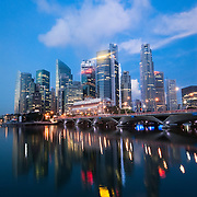 Marina Bay and Singapore skyline