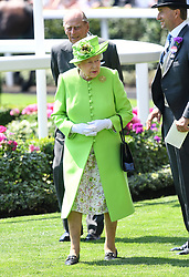Queen Elizabeth II during day one of Royal Ascot at Ascot Racecourse, London