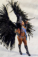 Carnaval queen in the Carnaval parade of Unidos de Vila Isabel samba school in the Sambadrome, Rio de Janeiro, Brazil.