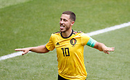 Eden Hazard of Belgium celebrates after scoring during the 2018 FIFA World Cup Russia, Group G football match between Belgium and Tunisia on June 23, 2018 at Spartak Stadium in Moscow, Russia - Photo Tarso Sarraf / FramePhoto / ProSportsImages / DPPI
