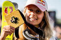 May 19, 2018 - Fornebu, NORWAY - 180519 Jennie-Lee Burmansson of Sweden with the gold medal after winning the womenÃ•s big air ski finals during X Games Norway on May 19, 2018 in Oslo. .Photo: Vegard Wivestad GrÂ¿tt / BILDBYRN / kod VG / 170170 (Credit Image: © Vegard Wivestad Gr¯Tt/Bildbyran via ZUMA Press)