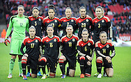 Germany Team Group<br /> (Back Row L to R) Germany Women goalkeeper Almuth Schult - Annike Krahn of Germany Women - Celia Sasic of Germany Women - Melanie Behringer of Germany Women -Lena Goessling of Germany Women - Josephine Henning of Germany Women -<br /> (Front Row L to R) Jennifer Cramer of Germany Women - Melanie Leupolz of Germany Women - Alexandra Popp of Germany Women - Simone Laudehr of Germany Women - Tabea Kemme of Germany Women<br /> - Womens International Football - England vs Germany - Wembley Stadium - London, England - 23rdNovember 2014  - Picture Robin Parker/Sportimage