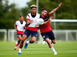 Lloyd Kelly and Diego De Girolamo in action as Bristol City return to training ahead of their 2017/18 Sky Bet Championship campaign - Mandatory by-line: Robbie Stephenson/JMP - 30/06/2017 - FOOTBALL - Failand Training Ground - Bristol, United Kingdom - Bristol City Pre Season Training - Sky Bet Championship