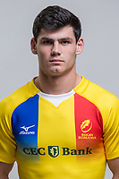 CLUJ-NAPOCA, ROMANIA, FEBRUARY 27: Romania's national rugby player Marius Simionescu pose for a headshot, on February 27, 2018 in Cluj-Napoca, Romania. (Photo by Mircea Rosca/Getty Images)