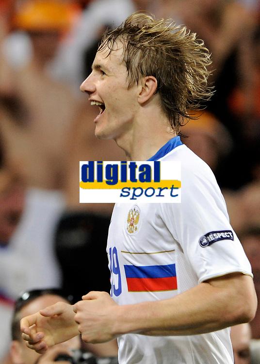 Roman Pavlyuchenko (RUS) jubelt nach dem 1:0. © Manu Friederich/EQ Images