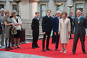 MARCHIONESS OF DOURA; LINDAY DUFFERIN OF AVA; NICKY HASLAM; ZOE WANAMAKER; LORD FOSTER, , Celebration of the Arts. Royal Academy. Piccadilly. London. 23 May 2012.