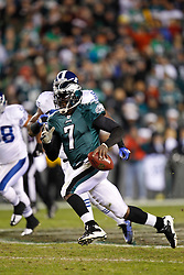 Philadelphia Eagles quarterback Michael Vick #7 carries the ball during the NFL Game between the Indianapolis Colts and the Philadelphia Eagles. The Eagles won 26-24 at Lincoln Financial Field in Philadelphia, Pennsylvania on Sunday November 7th 2010. (Photo By Brian Garfinkel)