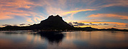 Sunrise, Bora, Bora, French Polynesia, South Pacific